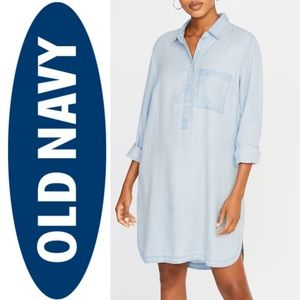 NWT Old Navy Tencel Shirtdress L TALL
